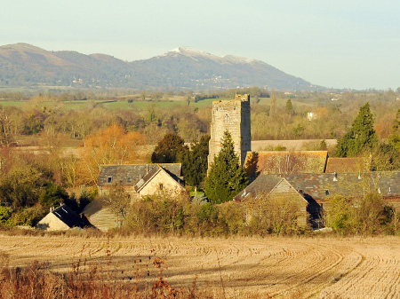 Malverns Hills and Church