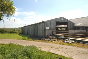 Modern steel portal framed barn with Class Q Approval.