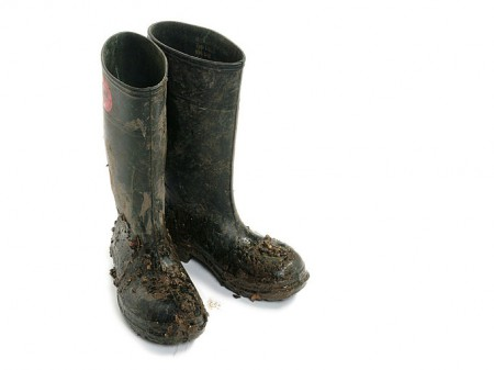 Muddy Wellingtons