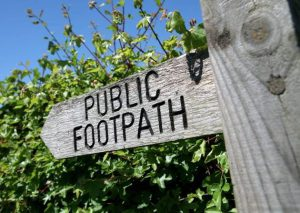 Footpaths and rights of way